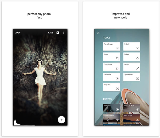 """Google has released a new version of Snapseed for iOS with support for the RAW format and a new filter """"Faces"""""""