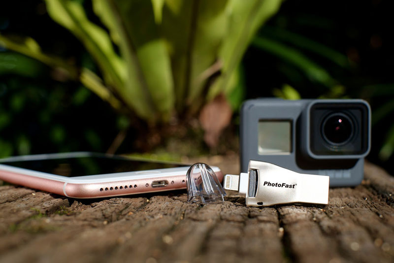PhotoFast has introduced the 4K video microSD card reader for iPhone and iPad