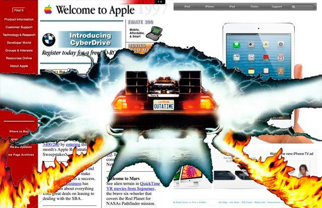 20 years in 3 minutes: how to change the Apple website since 1996 [video]