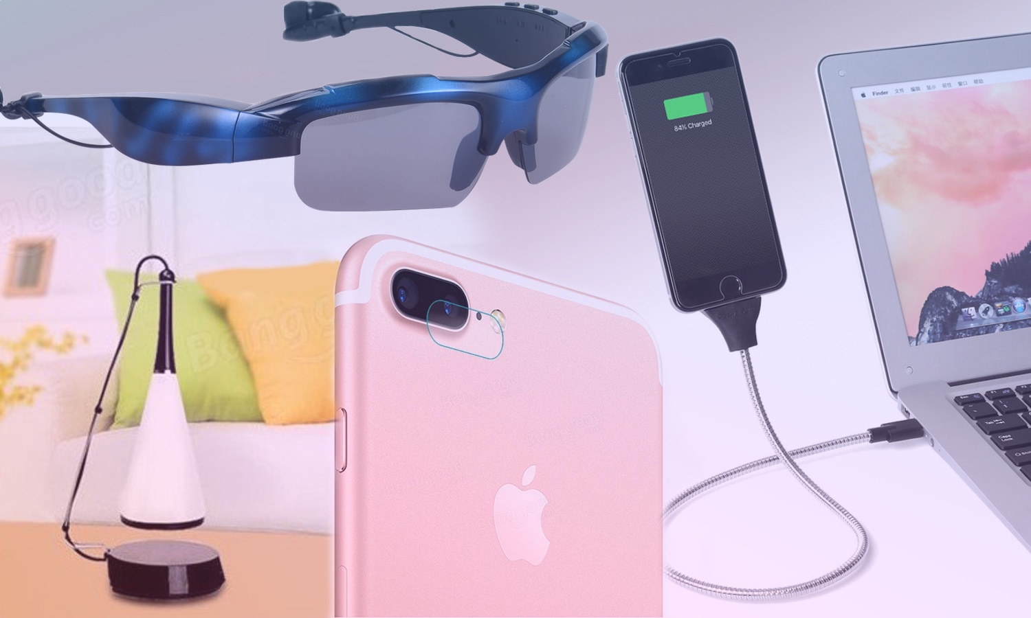 From China with love: the lamp-column, glasses, headphones and joystick for iPad