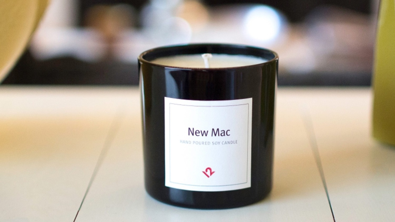 On sale candle for lovers of the smell of a new Mac