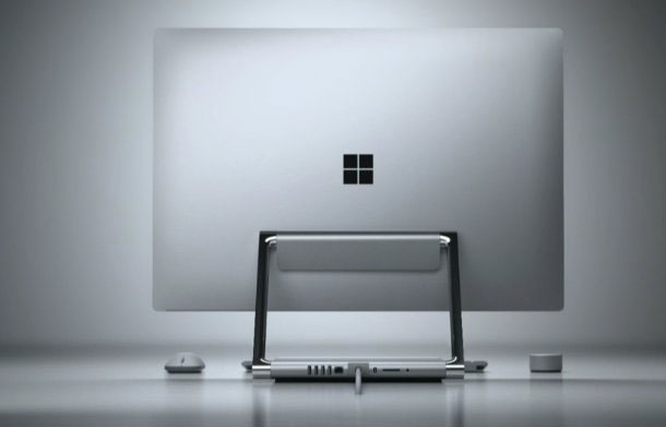 Microsoft officially unveiled the Surface monobloc Studio – a competitor to the iMac touch screen