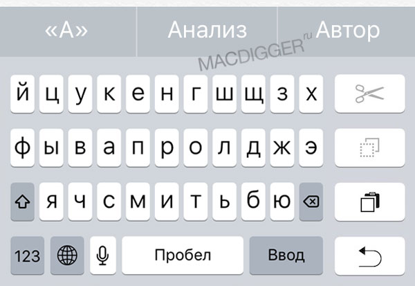 How to activate hidden mode, set one hand on the keyboard iOS