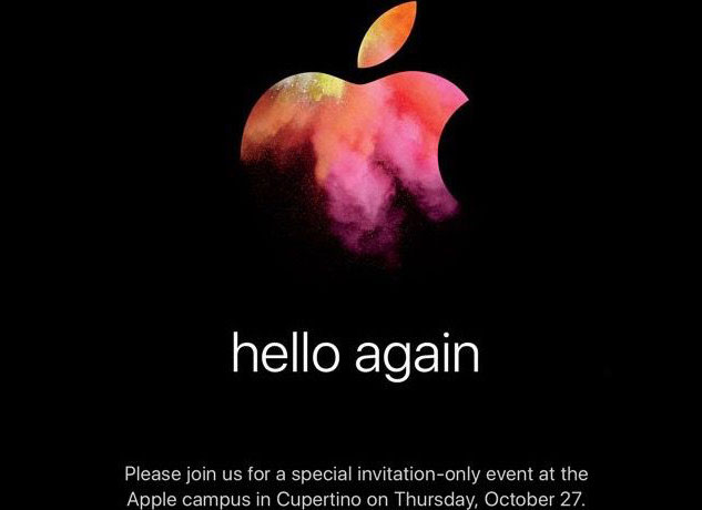 """hello again"": Apple has sent out invitations to the presentation on October 27"