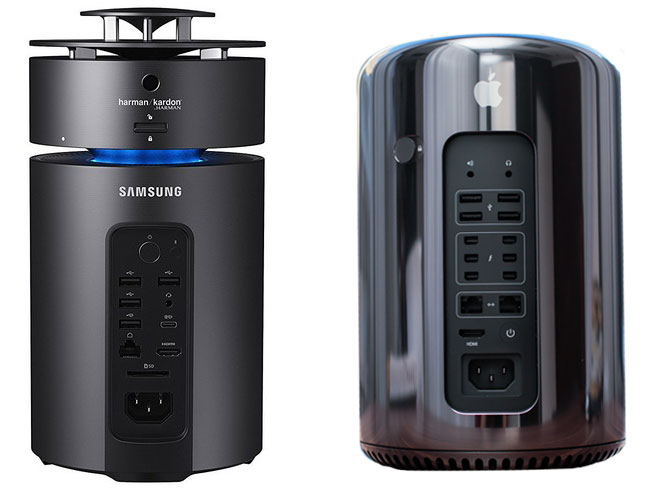Samsung released the cylindrical PC-style Mac Pro for $1200
