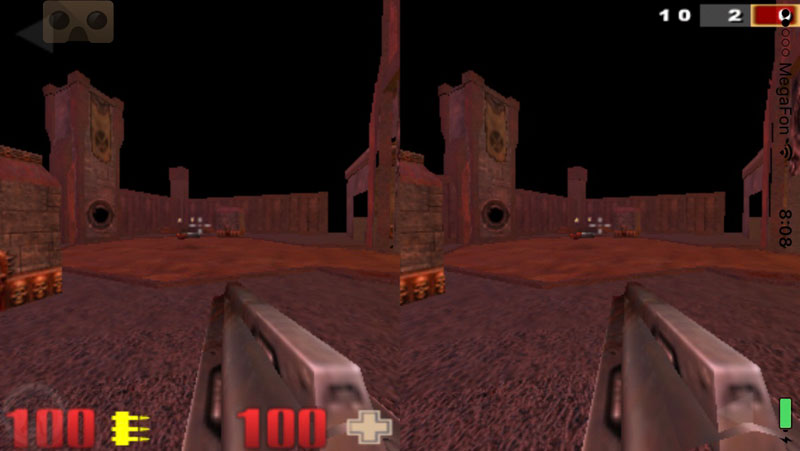 Play Quake III Arena to the iPhone's virtual reality