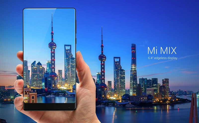 Xiaomi introduced the frameless smartphone Mi Mix in a ceramic package and without dynamics