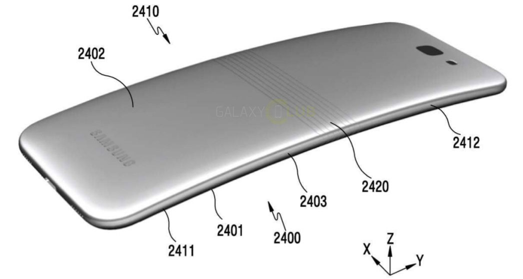 Published the first images of the Samsung smartphone with curved screen