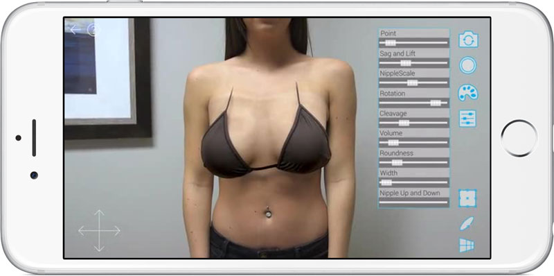 A California startup has created an iOS app for breast augmentation [video]