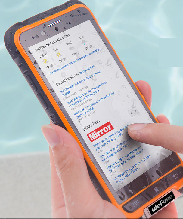 """""""Unkillable"""" smartphone Ulefone Armor with the possibility of underwater photography went on sale for $160"""