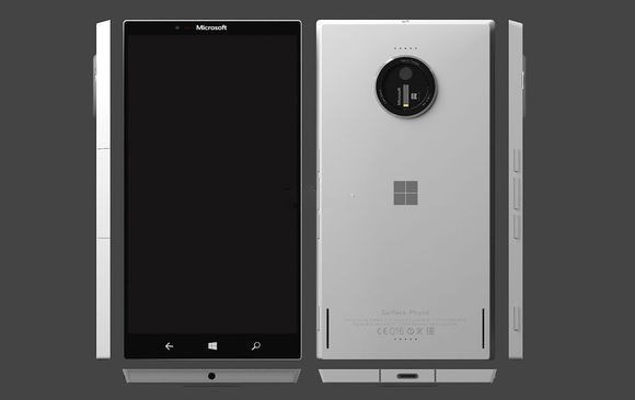 Image flagship smartphone Microsoft Surface Phone allow you to evaluate its design