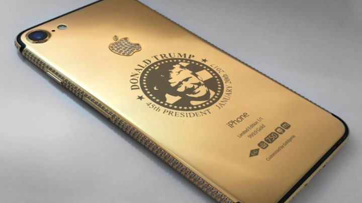 In the United Arab Emirates introduced a gold iPhone 7 with a portrait of trump for 9 million rubles