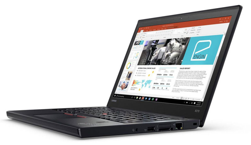 Lenovo introduced the ThinkPad laptop X270 that runs from the battery up to two times longer than the new MacBook Pro