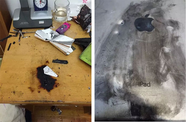 The owner of the iPad Air in China almost suffered in the explosion of the tablet [photos]