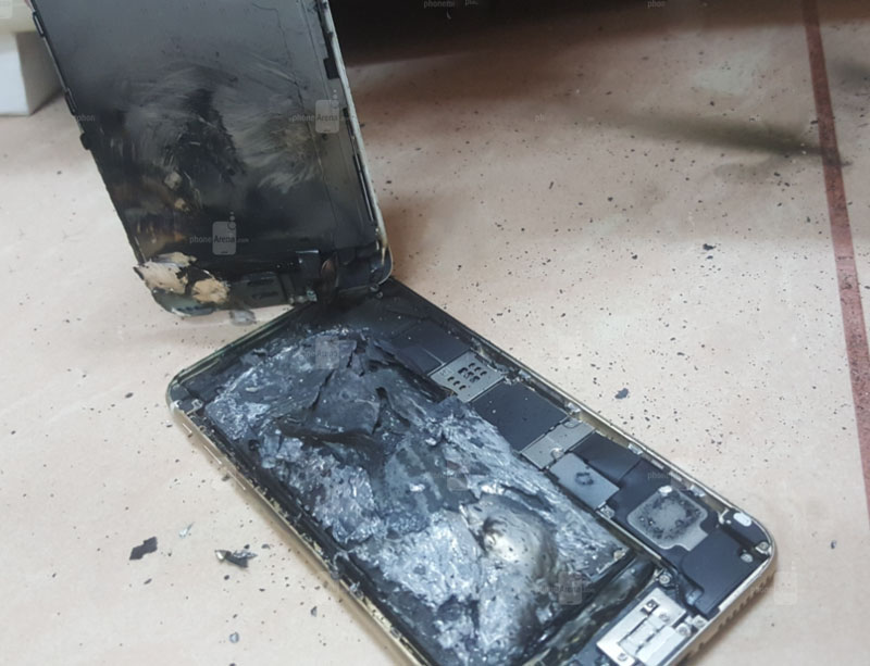 iPhone 6s ignited after charging