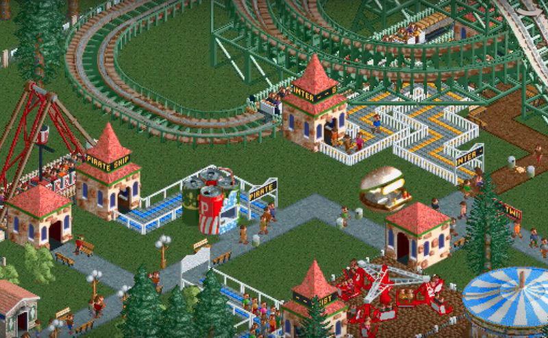 Atari released the Rollercoaster Tycoon Classic for iPhone and iPad