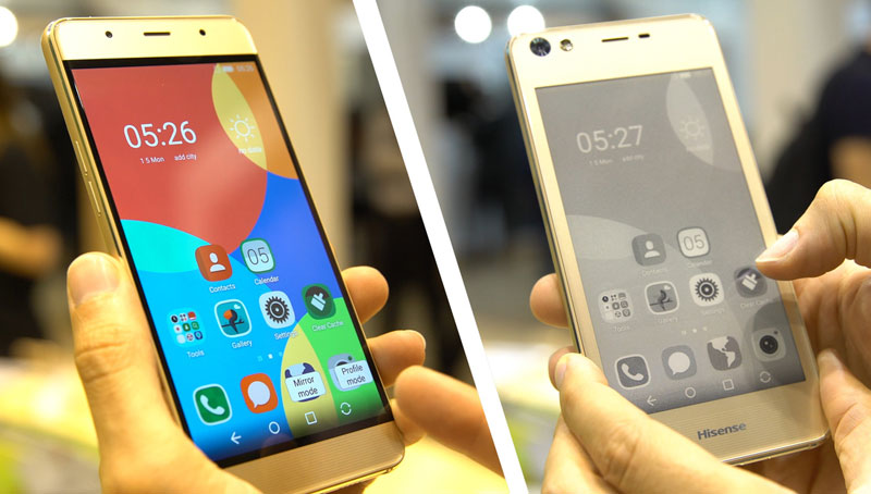 The Chinese response YotaPhone 2: smartphone Hisense A2 with two displays, AMOLED and E-Ink