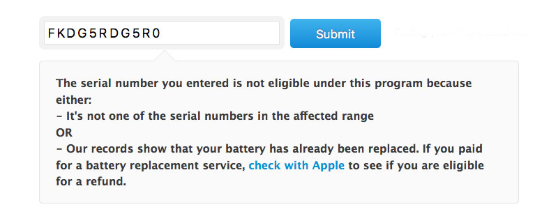 Apple has launched a website which allows owners of iPhone 6s to check the battery defect