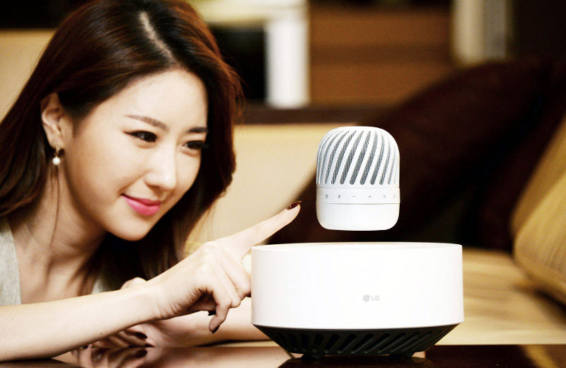 LG has announced a wireless speaker system that is able to float in the air