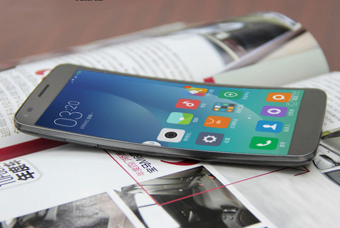 Published photos of the new Xiaomi smartphone with a curved display in the style of the LG G Flex