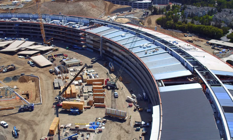 Video of the day: how to change the new Apple campus in the last six months
