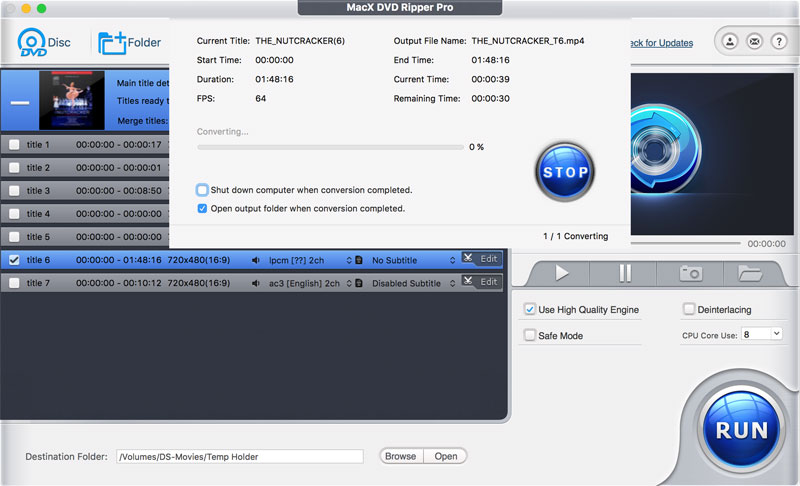 One of the best video converters MacX DVD Ripper Pro worth $60 temporarily became free