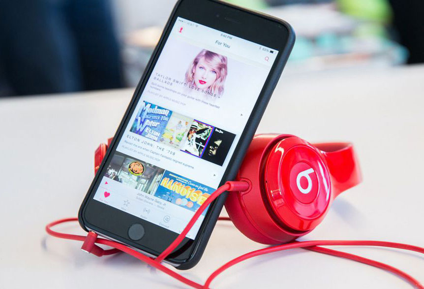 Apple Music entered the top-10 most popular applications 2016