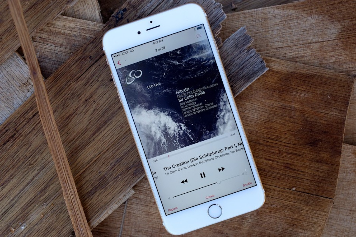 How has the Music app in iOS 10.2