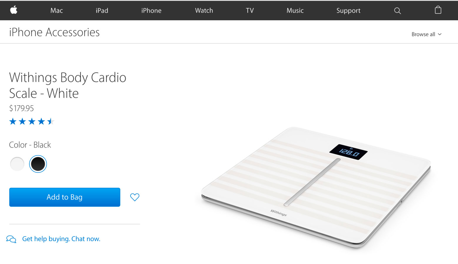 Apple removed from the online store all products of Withings, bought Nokia earlier in the year