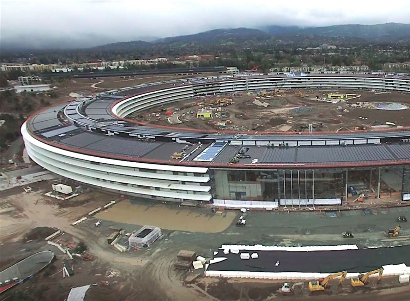 """The construction of the """"spaceship"""" Apple is nearing completion [video]"""