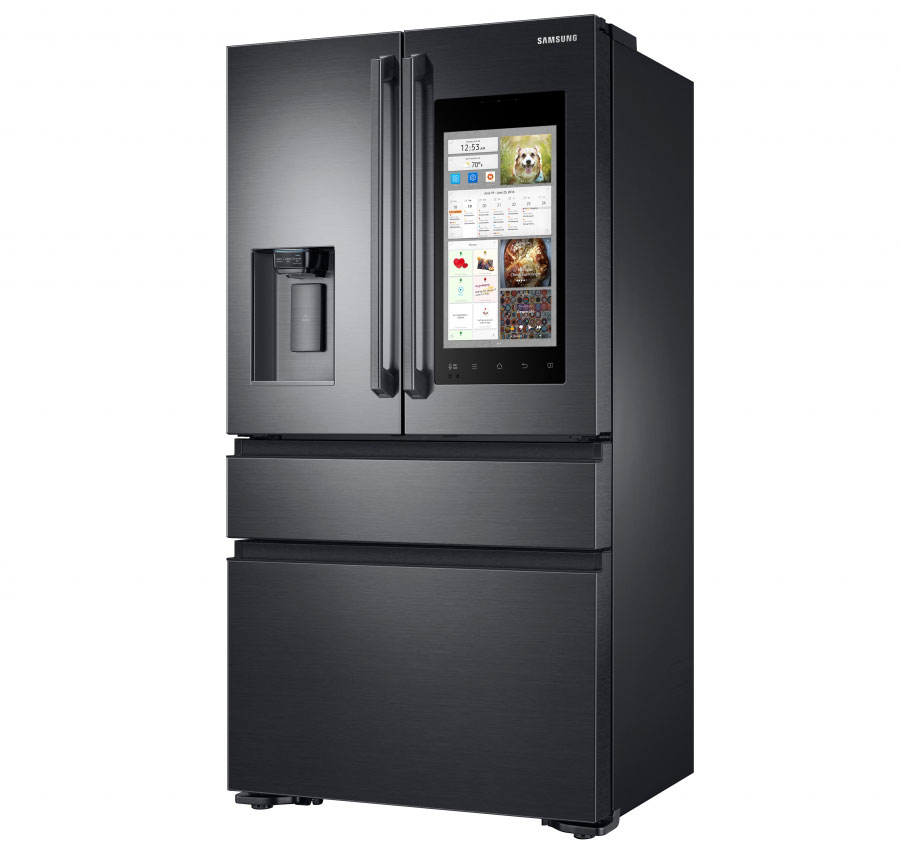 "Samsung has introduced ""smart"" refrigerator Family Hub 2.0 with 21.5-inch touchscreen and a camera inside"