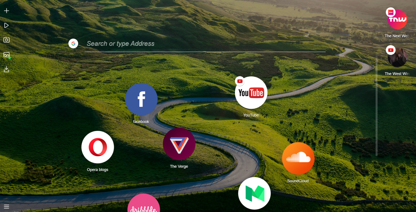 Opera introduced Neon is the new concept web browser