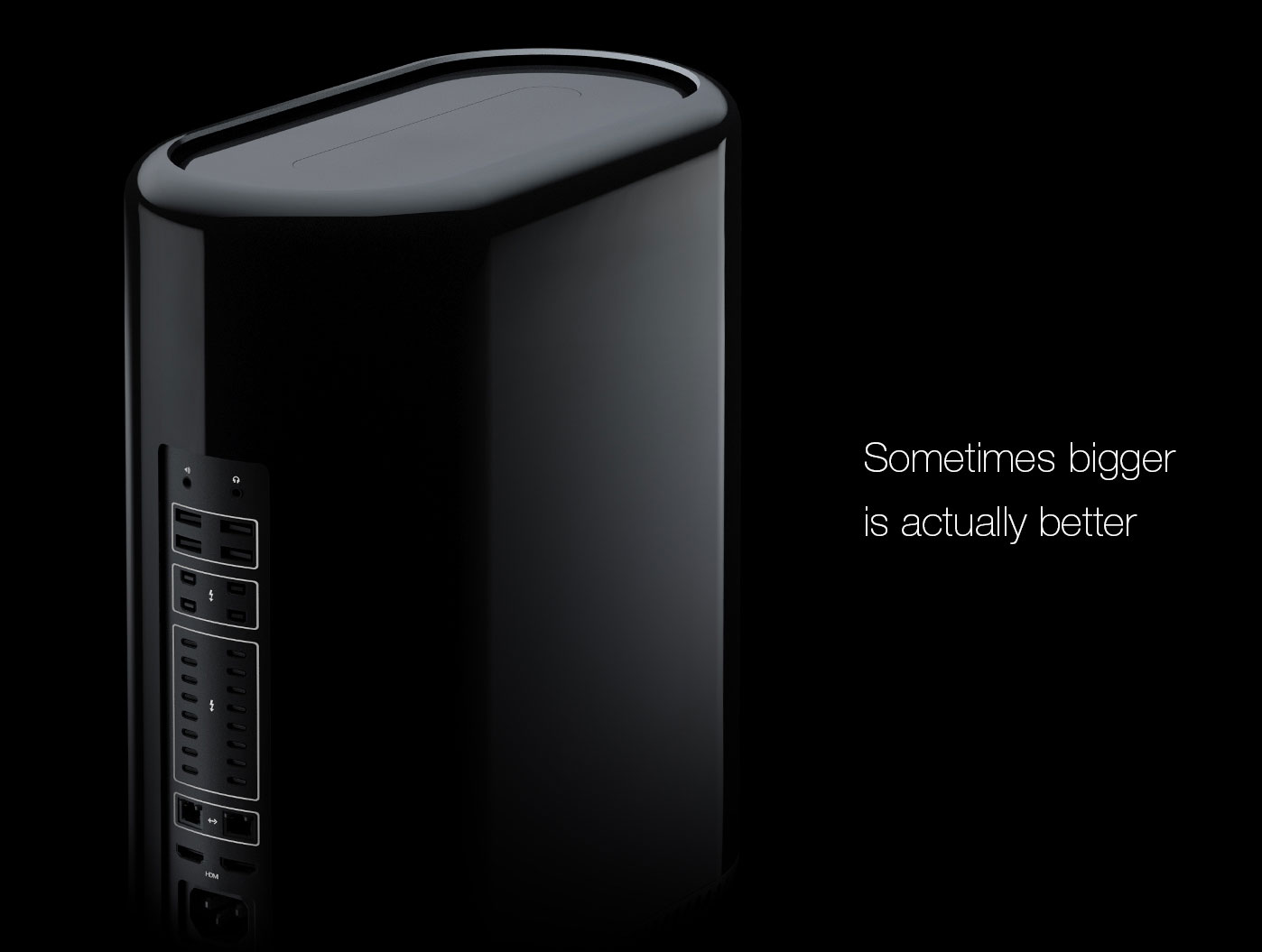 The concept of the Mac Pro 2 16-port USB-C, two Nvidia GTX 1080 and carrying handle