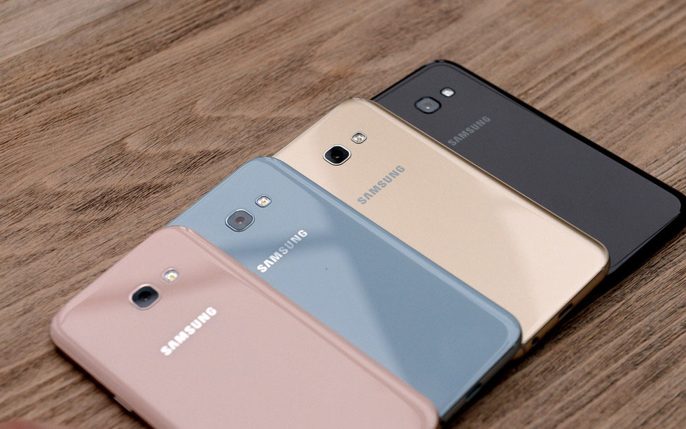 Samsung introduced two smartphones Galaxy A3, A5 and A7 2017
