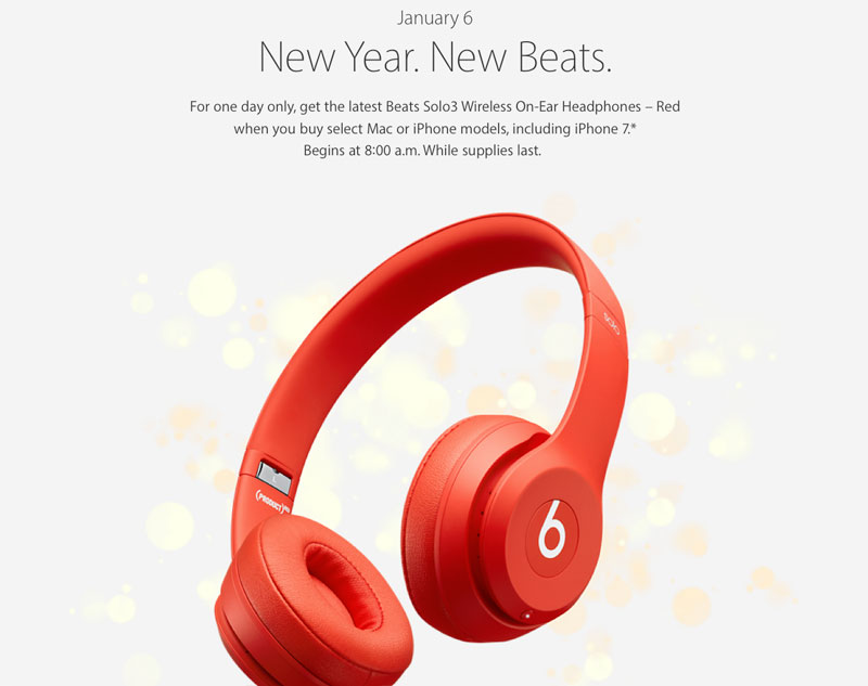 Apple in honor of the Chinese New year gives wireless headphones Beats Solo3 when buying a Mac or iPhone