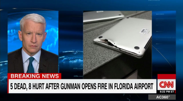 MacBook Pro saved the life of an American during a shooting at the airport in Florida