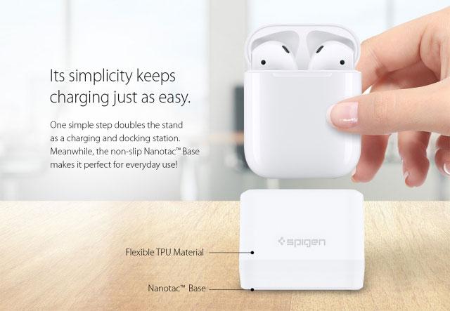 Spigen introduced the first dock headphone AirPods