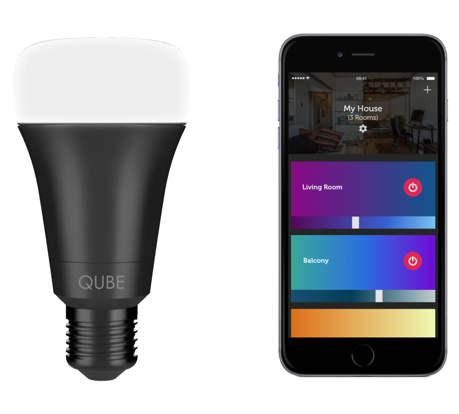 "Started selling the ""cheapest in the world"" smart bulbs Qube with Wi-Fi and Bluetooth"