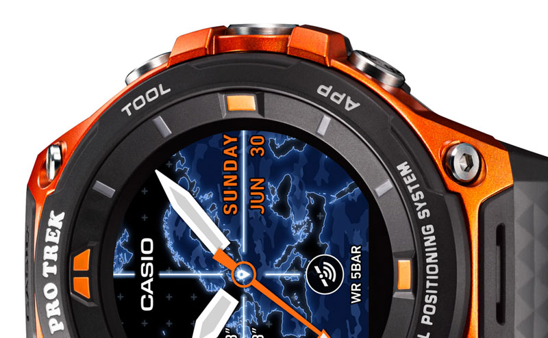 Announced smart watch Casio WSD-F20: protected case, a month without charging, GPS module