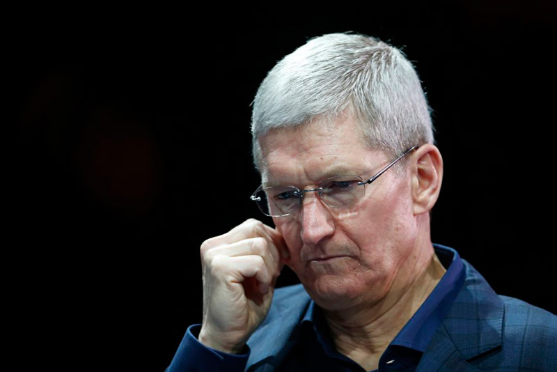 Apple slashed the salary of CEO Tim cook because of weak performance in 2016