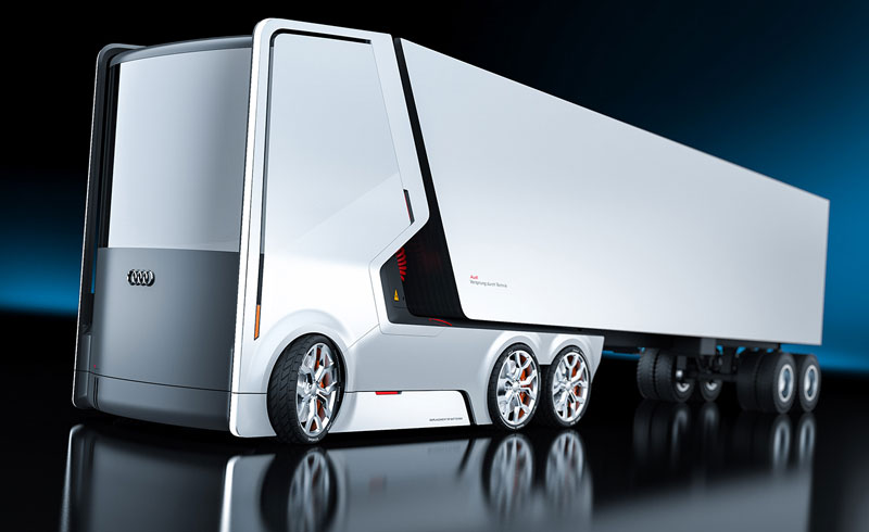 Belarusian designer showed a concept driverless electric truck, created by Apple and Audi