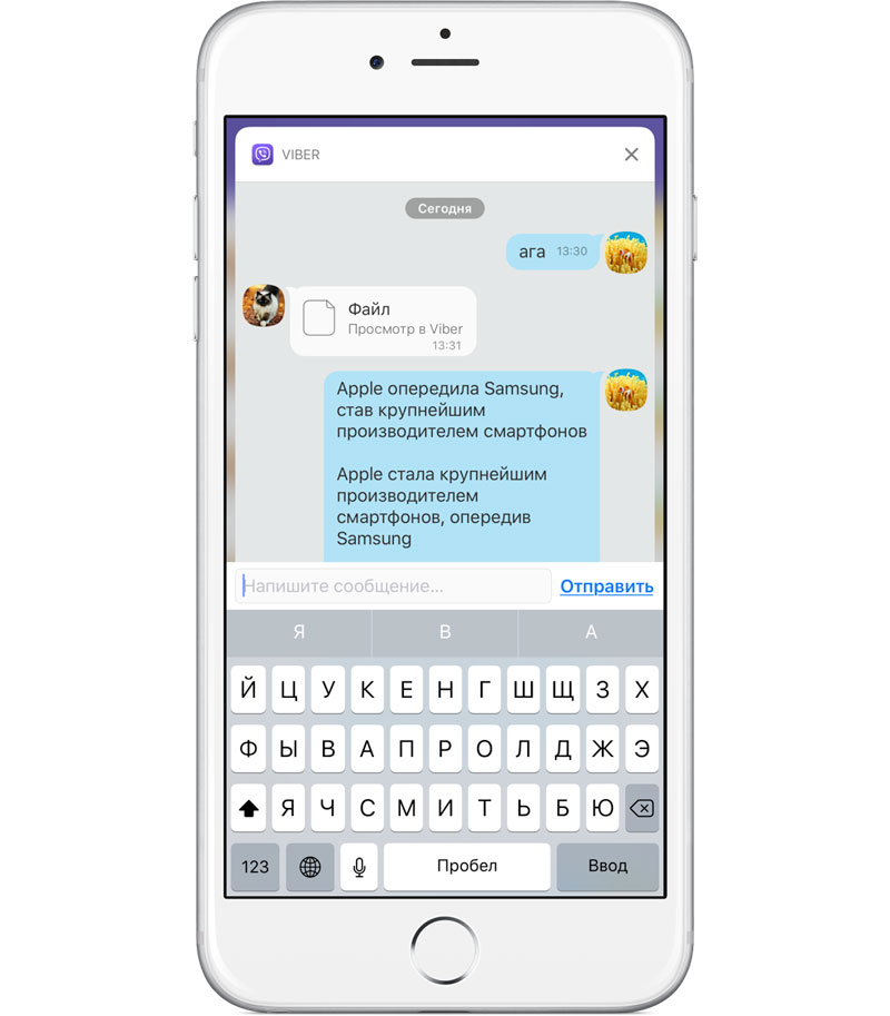 Big update Viber for iOS: disappearing messages, upload photos without compression, interactive notifications