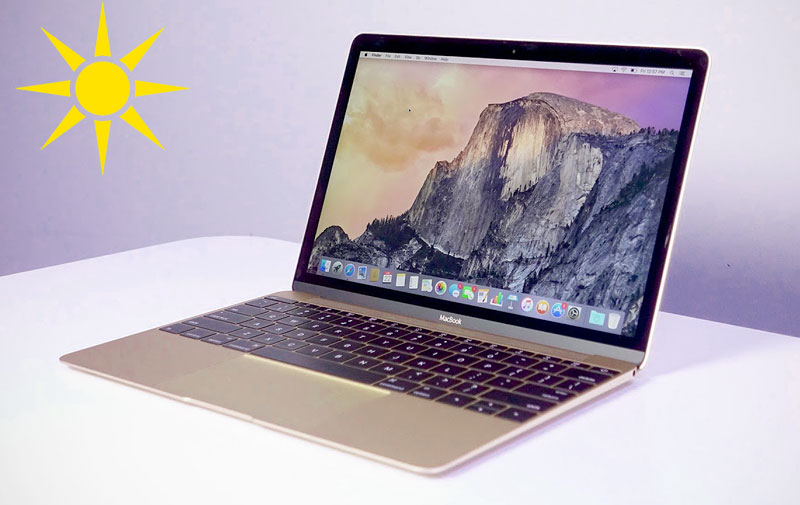Apple invented the MacBook with two screens that can be used in bright sunlight