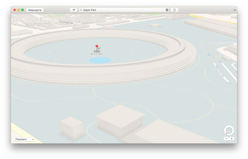 """Apple added 3D images Apple Park and the """"Theatre of a name of Steve jobs"""" on Apple Maps"""