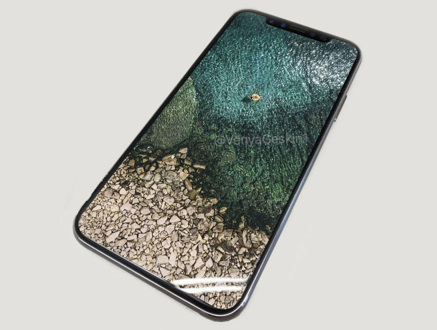 """Photo of the day: iPhone 8 with a screen """"edge to edge"""" looks luxurious"""
