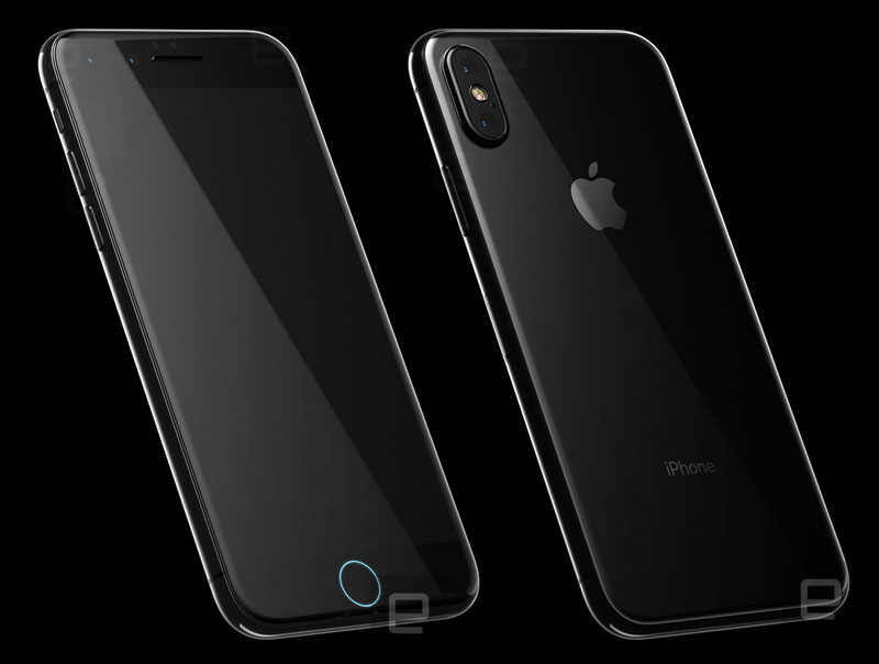 The final design of the iPhone 8: glass body, wireless charging, built-in display Touch ID