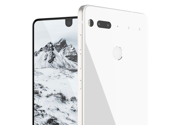 "The Android maker has officially unveiled the smartphone Essential display ""edge to edge"" and titanium body"