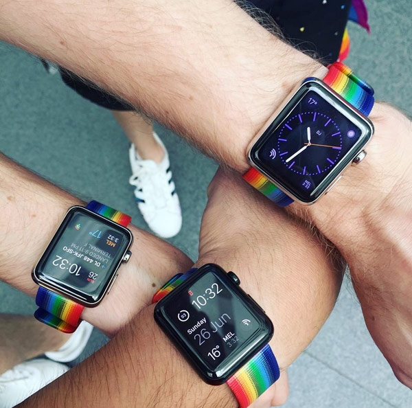"Apple has started selling the ""rainbow"" straps with a gay pride parade in San Francisco"