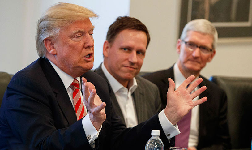 Donald trump will meet with heads of Apple, Microsoft and Amazon