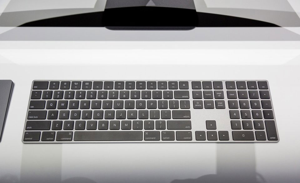 iMac Pro has got non-removable memory and an exclusive set of keyboard and mouse in color Space Gray